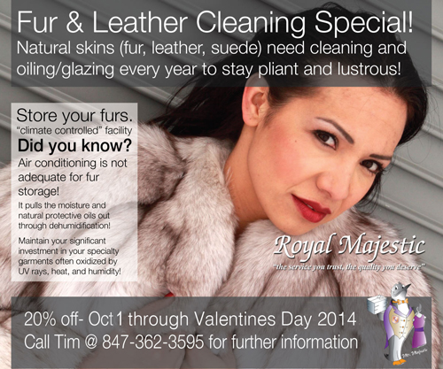 Fur & Leather Cleaning Special